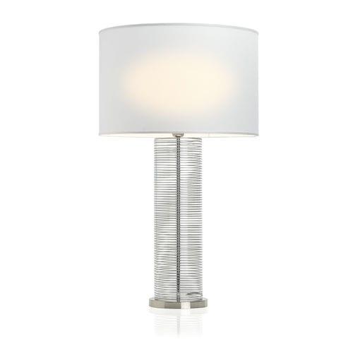 lámpara de mesa / contemporánea / de latón / de vidrio