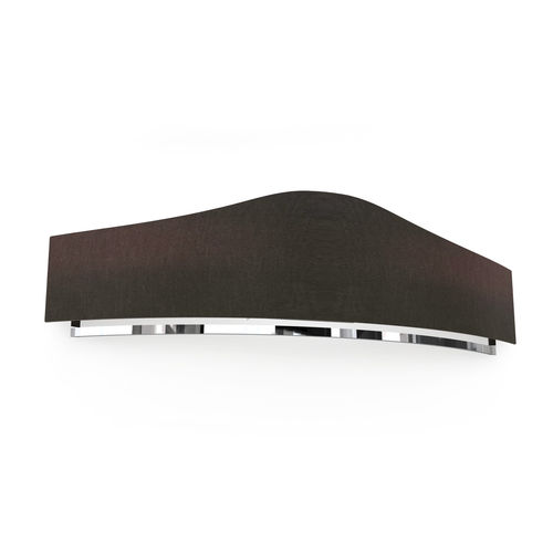 aplique contemporáneo / de metal cromado / de tejido / LED