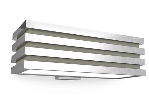 aplique contemporáneo / de metal cromado / LED / rectangular