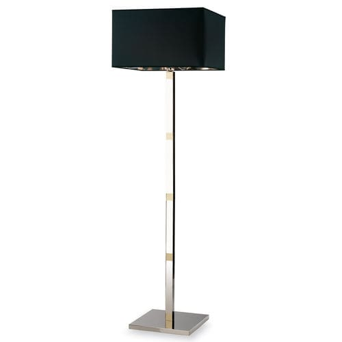 lámpara de pie / contemporánea / de latón / de tejido