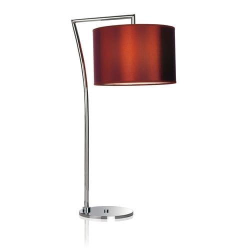 lámpara de mesa / contemporánea / de latón / de tejido
