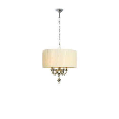 lámpara suspendida / clásica / de latón / de tejido