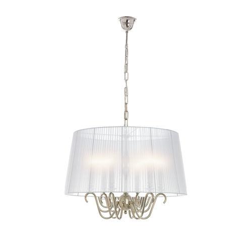 lámpara araña clásica / de latón / de tejido