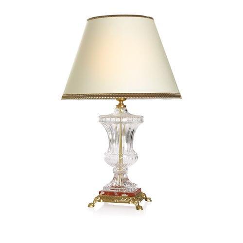 lámpara de mesa / clásica / de latón / de cristal