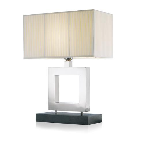 lámpara de mesa / contemporánea / de latón / de metal cromado