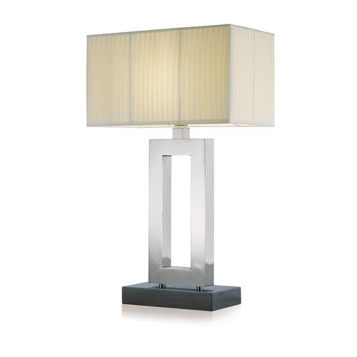 lámpara de mesa / contemporánea / de latón / de cromo