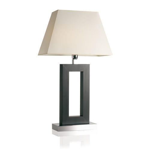 lámpara de mesa / contemporánea / de metal cromado / de tejido