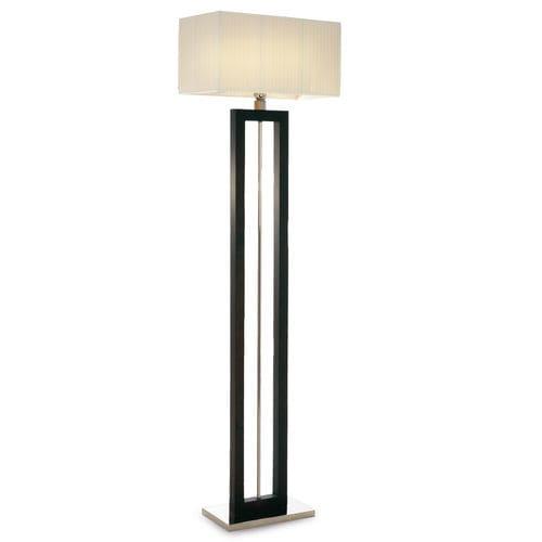 lámpara de pie / contemporánea / de metal cromado / de tejido