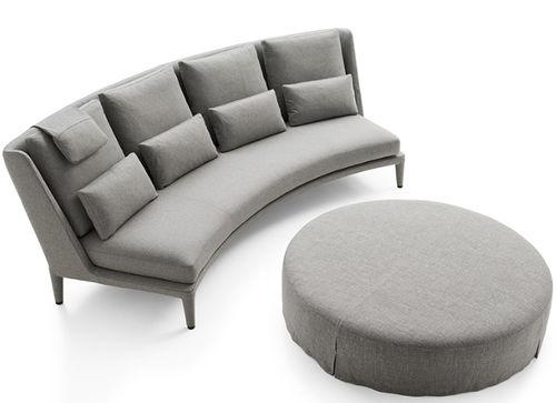 sofá en arco de círculo / moderno / de tejido / de cuero
