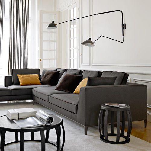 sofá modular / clásico / de cuero / de Antonio Citterio