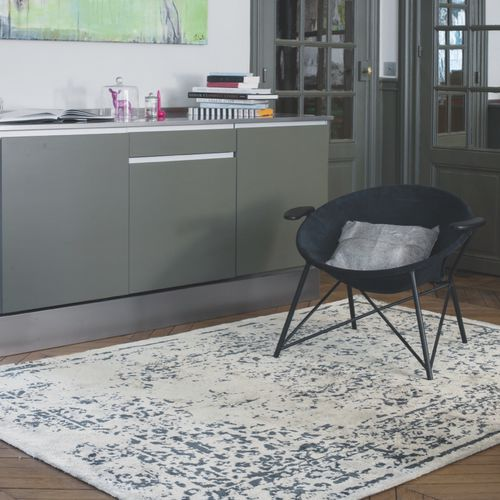 alfombra moderna / con motivos / de seda vegetal / rectangular