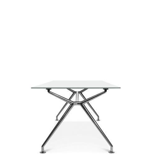 mesa de trabajo contemporánea / de material laminado / de madera / de aluminio