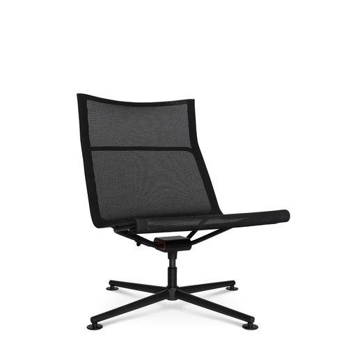 sillón bajo contemporáneo / de malla / de aluminio / giratorio