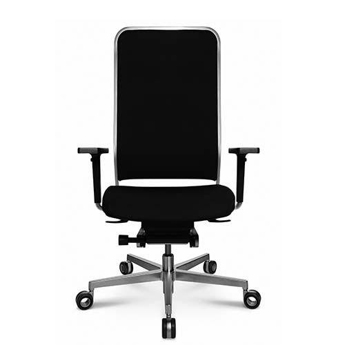 sillón de oficina contemporáneo / en malla / de cuero / de acero