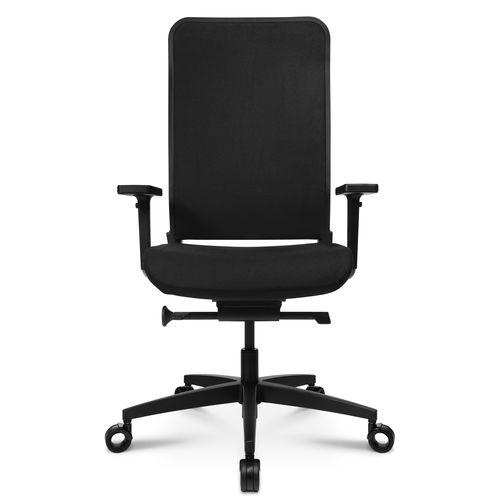 sillón de oficina contemporáneo / de tejido / de cuero / con ruedas