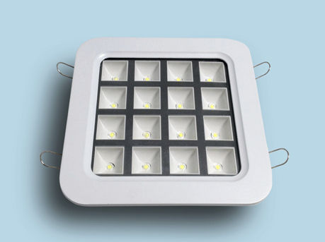 downlight empotrable / LED / cuadrado / de plástico