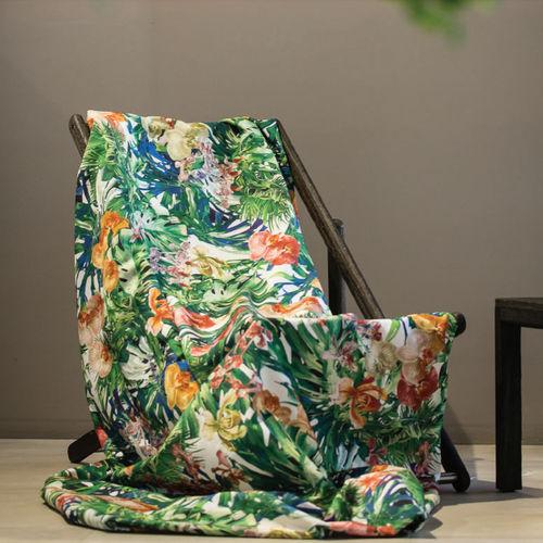 tela de tapicería / para cortinas / de flores / para exterior