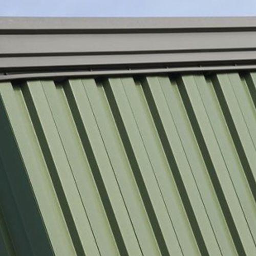 chapa acanalada / de acero / de cubiertas / para muro