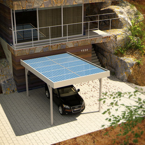cubierta para aparcamiento de acero galvanizado