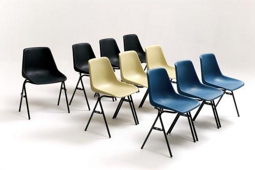 silla de visita contemporánea / apilable / de polipropileno