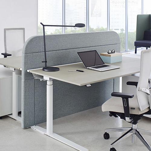 separador para oficina para suelo / en encimera / de tejido acústico / insonorizado