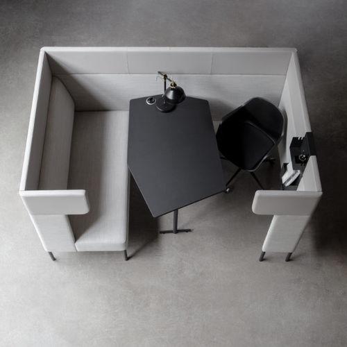 sofá modular / moderno / de tejido / para el sector servicios