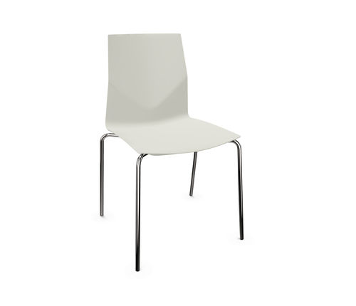 silla contemporánea / tapizada / con reposabrazos / reciclable