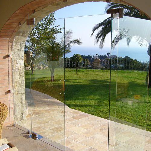 pinza para vidrio de acero inoxidable / para puerta / para vidrio