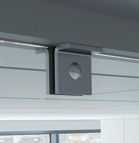 pinza para vidrio de acero inoxidable / para interiores / para puerta / para interior