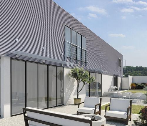 marquesina de entrada / para terraza / para edificio comercial / para escalera exterior
