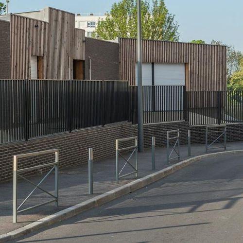 barrera de protección / fija / de acero / de acero inoxidable