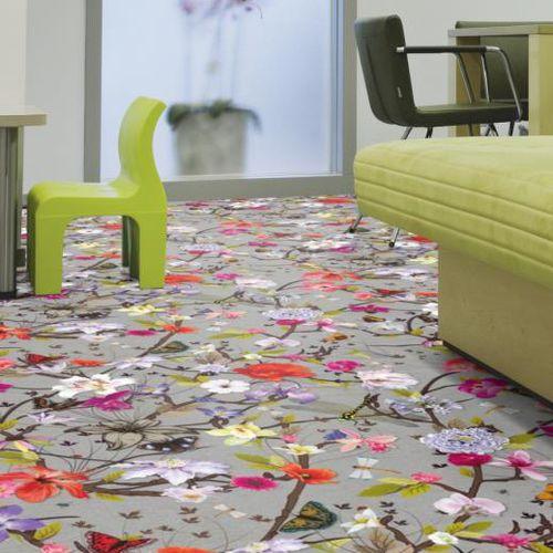 pavimento de textil / para el sector servicios / en rollo / liso