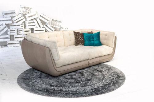 alfombra oriental / con motivos / de lana / redonda