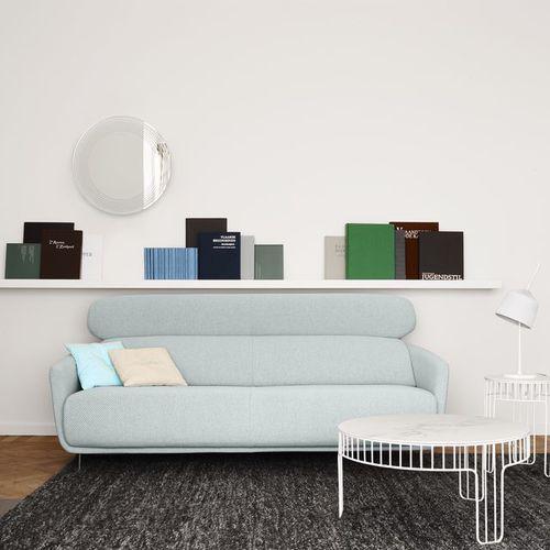 sofá moderno / de tejido / de cuero / de Éric Jourdan