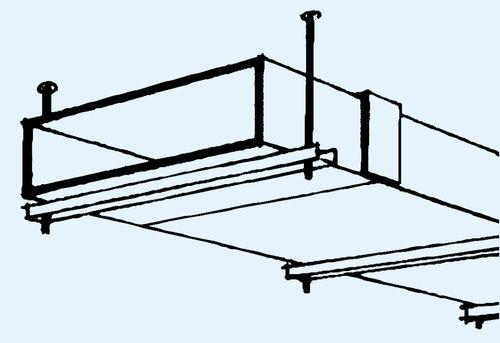 canaleta de cableado de yeso / de techo / profesional