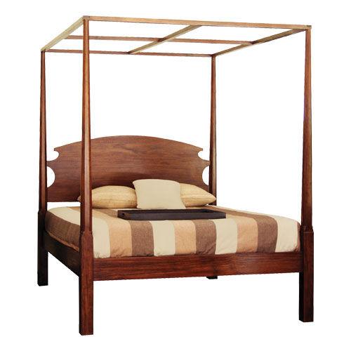 cama con dosel / de matrimonio / clásica / con cabecero