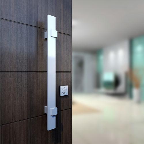 tirador de puerta para puerta / de aluminio anodizado / contemporáneo