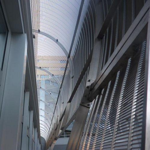 malla metálica para edificio