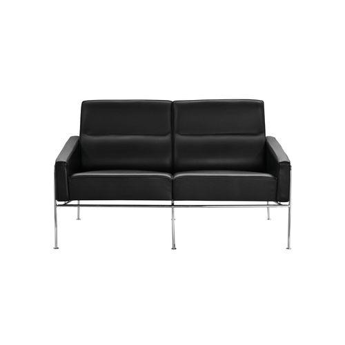 sofá de diseño escandinavo / de tejido / de cuero / de acero