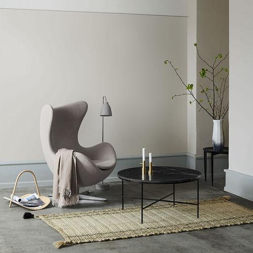 mesa de centro contemporánea / de mármol / con base de acero termolacado / rectangular