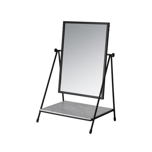 espejo de sobremesa / con estantes / giratorio / contemporáneo