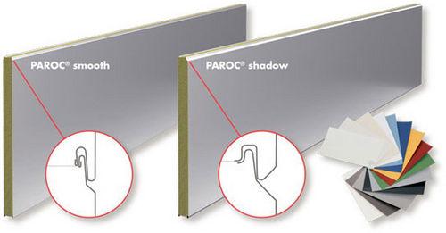 panel sándwich para muro / para tabique / para techo / cara metálica