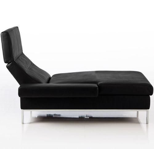 chaise longue moderna / de cuero / con respaldo ajustable