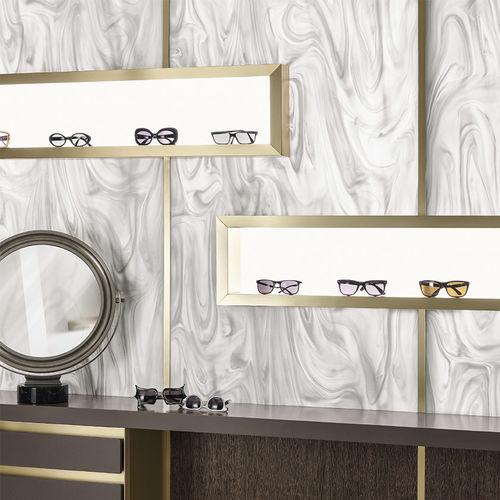 panel de material compuesto de Corian® / para interiores / blanco / translúcido