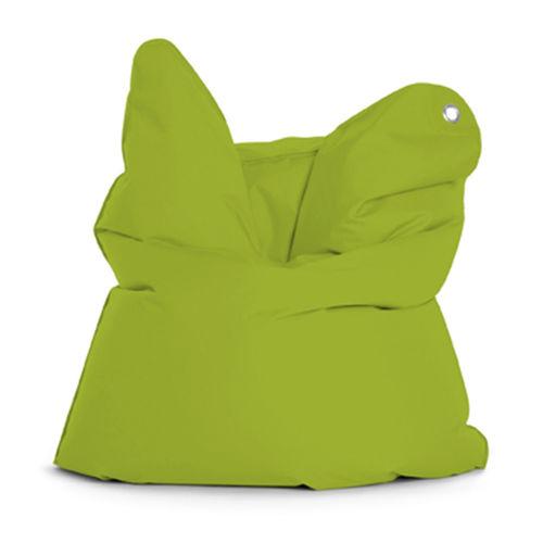 sillón pera moderno / de tejido / azul / marrón