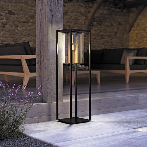 lámpara de pie / contemporánea / de aluminio / de vidrio