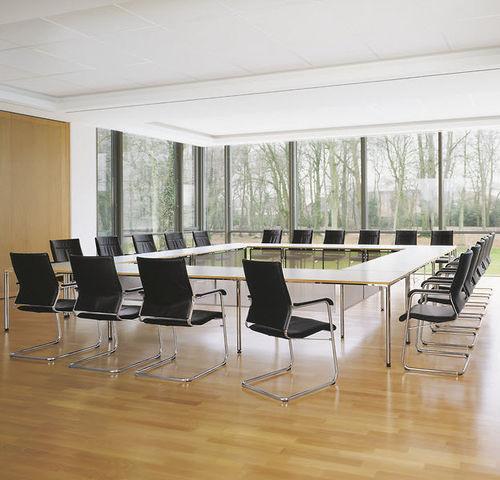 mesa de conferencia contemporánea / de material laminado / de linóleo / rectangular