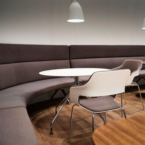 banqueta modular / moderna / de tejido / de cuero