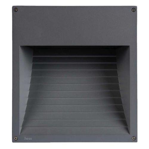 luminaria empotrable de pared / LED / cuadrada / de exterior