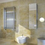 radiador toallero de acero inoxidable / contemporáneo / de baño / de pared